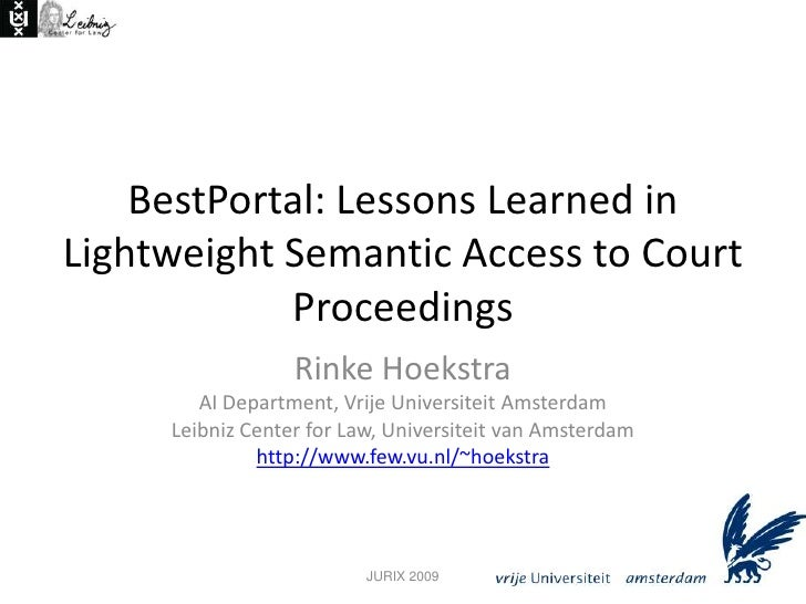BestPortal: Lessons Learned in Lightweight Semantic Access to Court Proceedings