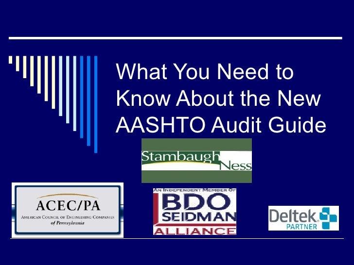 2009 AASHTO Audit Guide