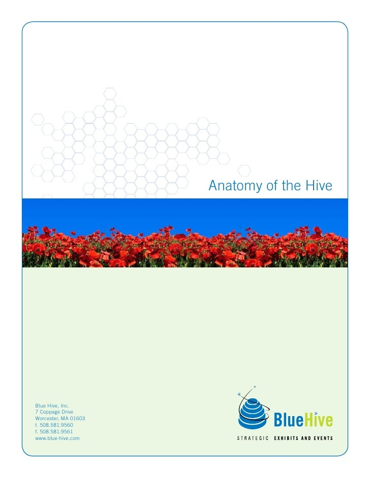 Anatomy of the Hive     Blue Hive, Inc. 7 Coppage Drive Worcester, MA 01603 t. 508.581.9560 f. 508.581.9561 www.blue-hive....