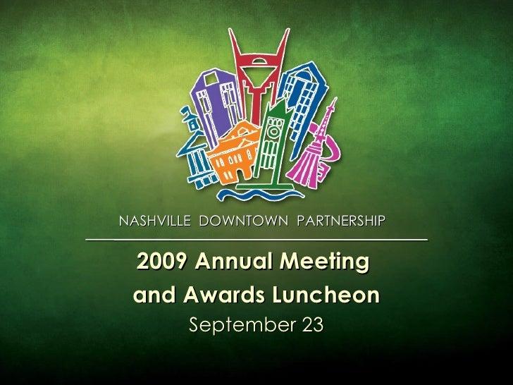 2009 Annual Meeting Presentation