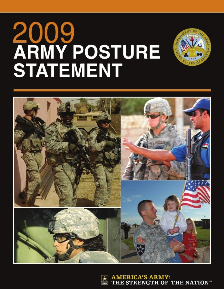 2009 Army Posture Statement