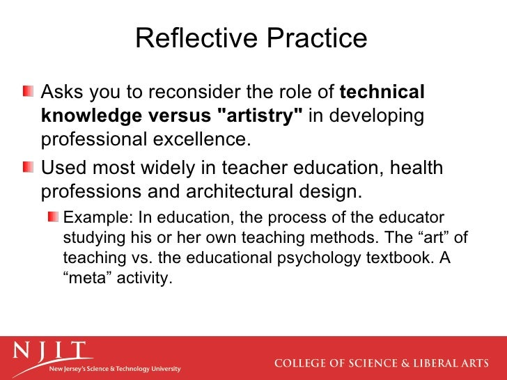 reflection education and reflective practice