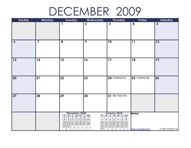 Pics Photos - December Calendar 2009 Calendar 2009 December
