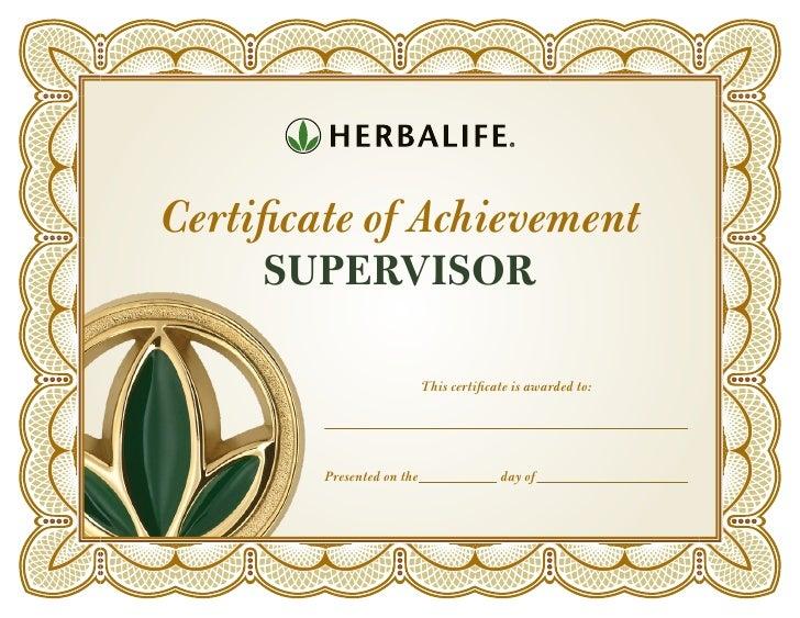 herbalife supervisor