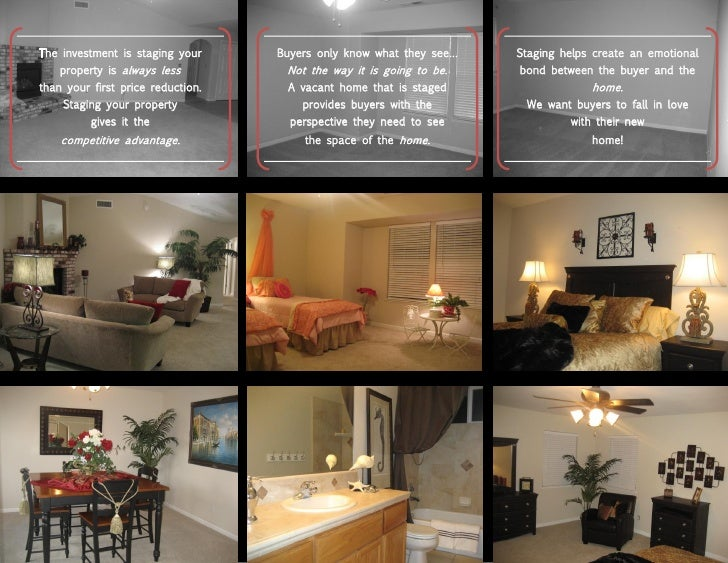 The investment is staging your     Buyers only know what they see…   Staging helps create an emotional     property is alw...