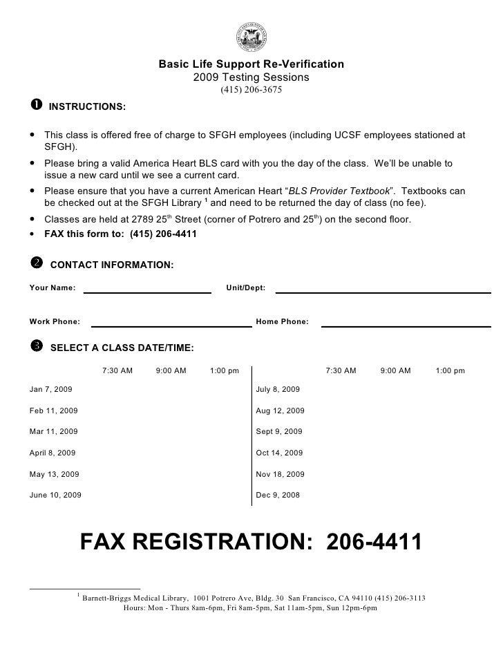2009 CPR Registration