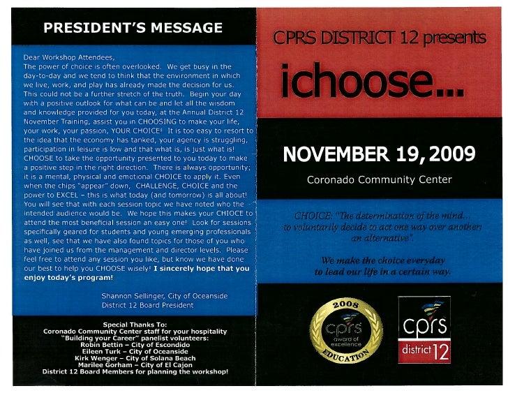 2009 Cprs District 12  I Choose Nov 19 2009 Idris Jassim Al-Oboudi ادريس جاسم العبودي