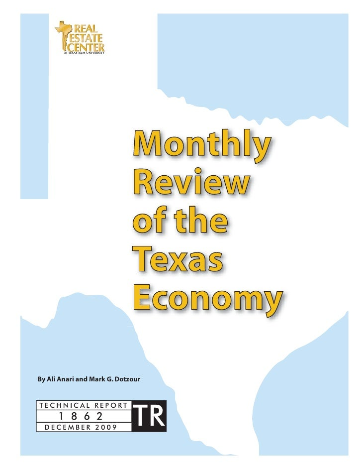 Monthly Review Of The Tx Economy (Dec 2009)