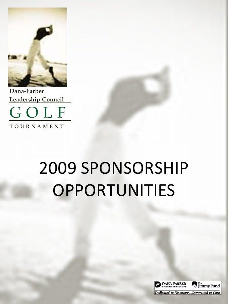 2009 Dflc Golf Tournament Sponsorship Opportunities