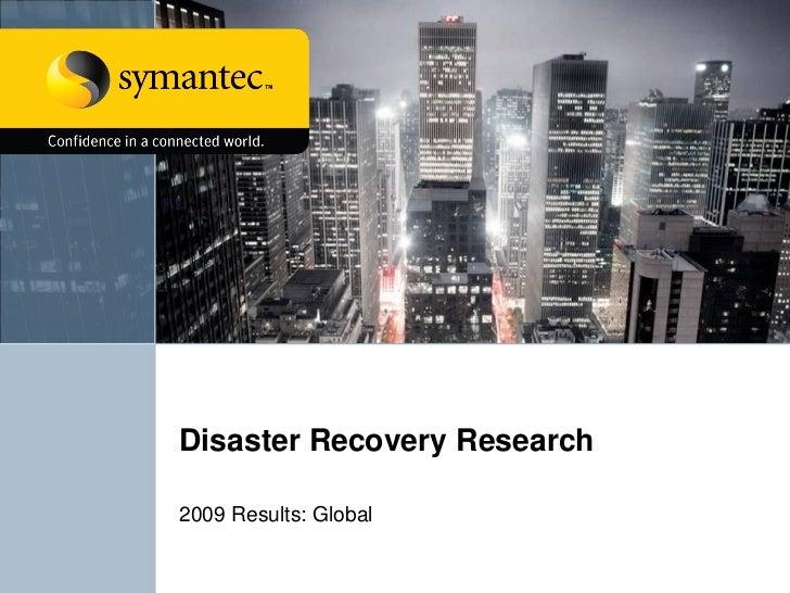 2009 SMB Disaster Preparedness Survey Global Results