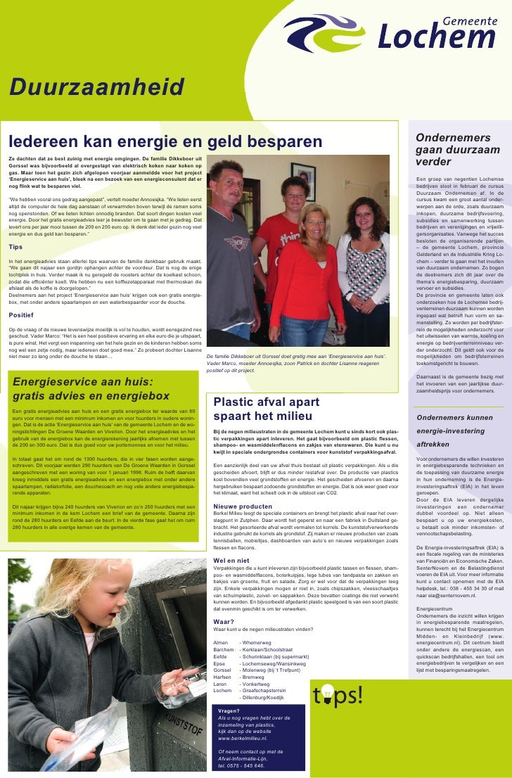 2009 Duurzaamheidkrant Lochem