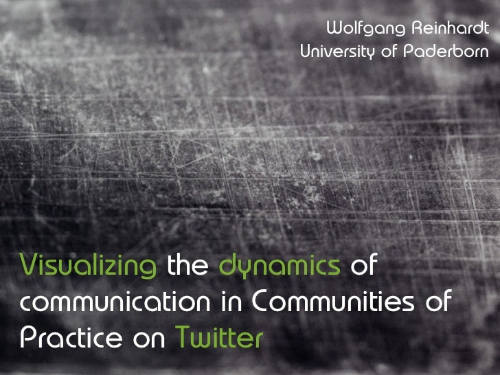 Visualizing the dynamics of communication in Communities of Practice on Twitter