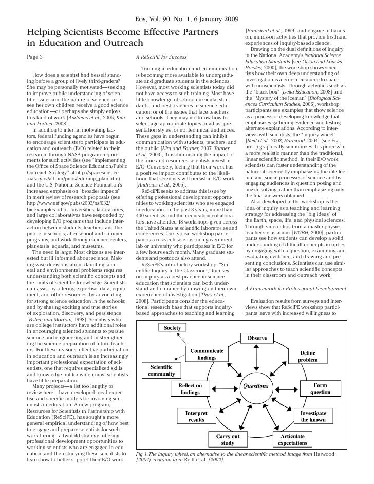Eos, Vol. 90, No. 1, 6 January 2009  Helping Scientists Become Effective Partners                                         ...