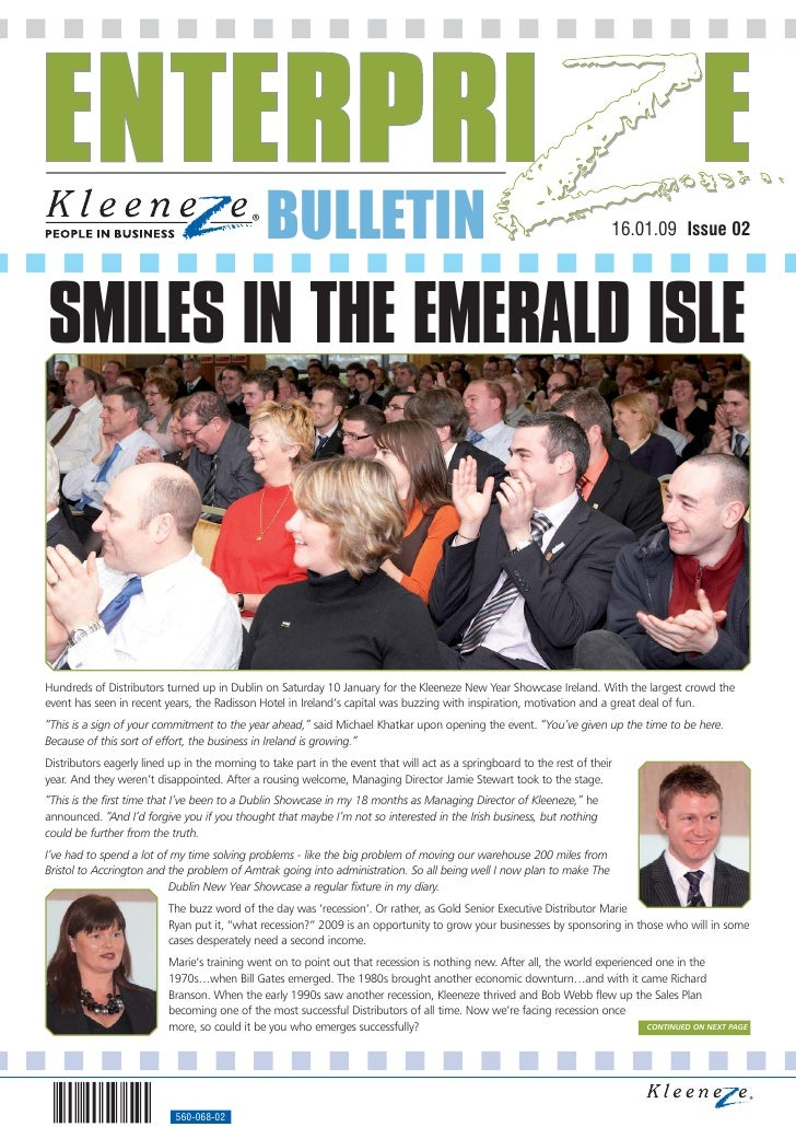 BULLETIN                                                                  16.01.09 Issue 02     SMILES IN THE EMERALD ISLE...