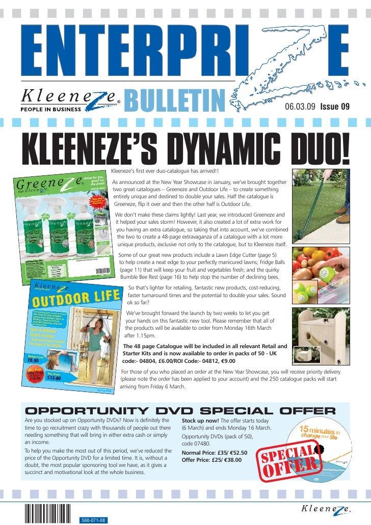 Kleeneze catalogue 2009 Ewb 09