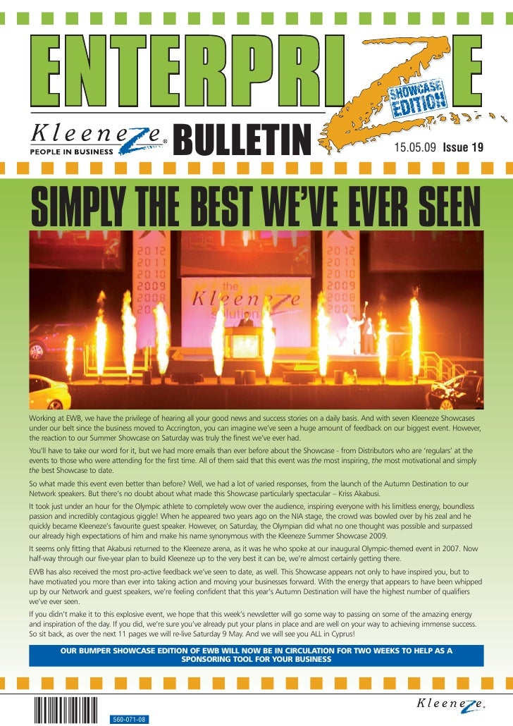 BULLETIN                                                                15.05.09 Issue 19     SIMPLY THE BEST WE'VE EVER S...
