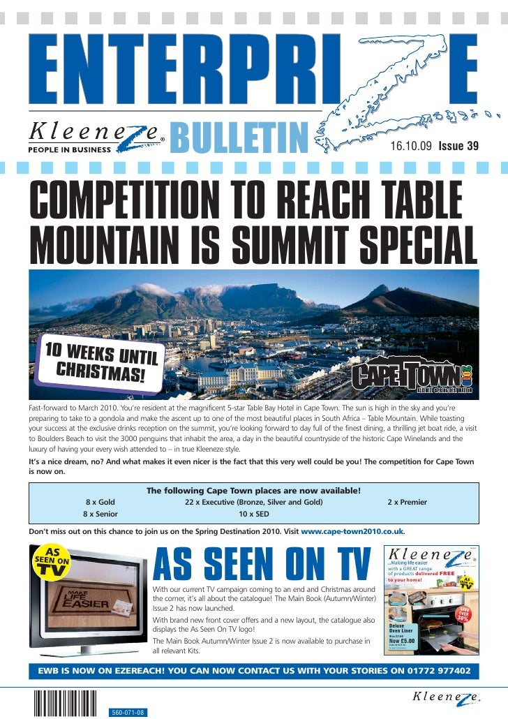 BULLETIN                                                                    16.10.09 Issue 39     COMPETITION TO REACH TAB...