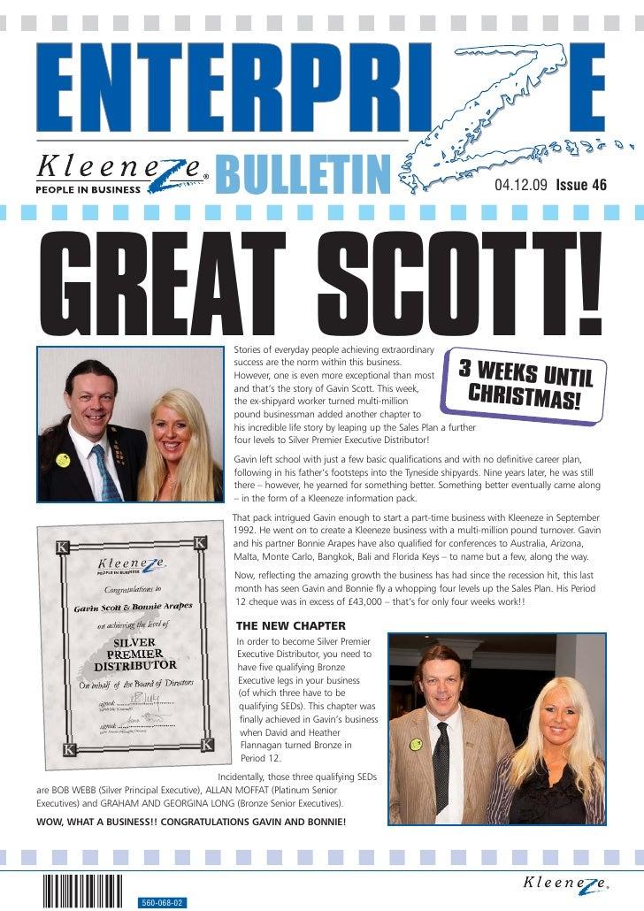 BULLETIN                                                                04.12.09 Issue 46     GREAT SCOTT!                ...