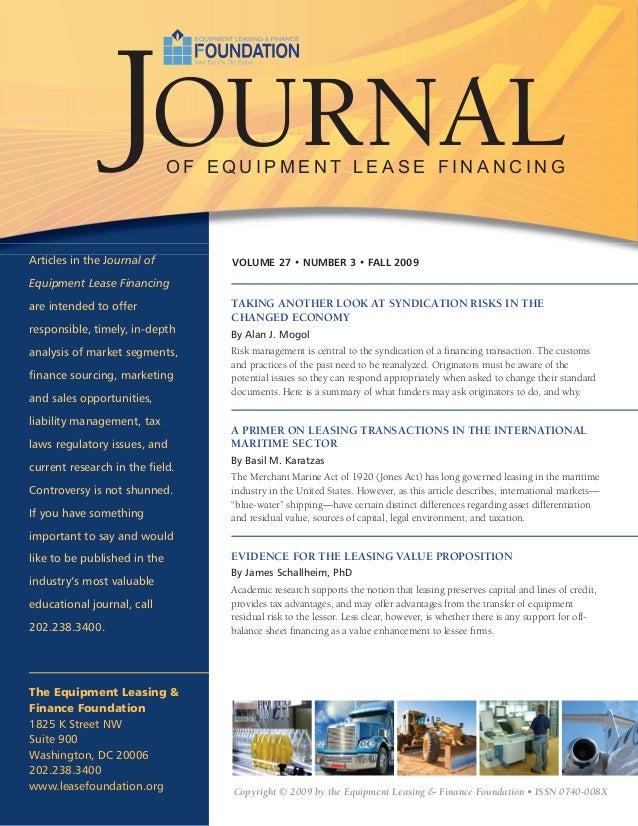 Primer on International Maritime Leasing