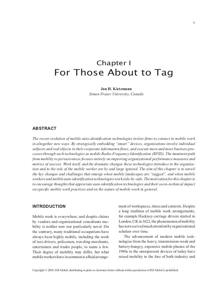 1                                                       Chapter I                  For Those About to Tag                 ...
