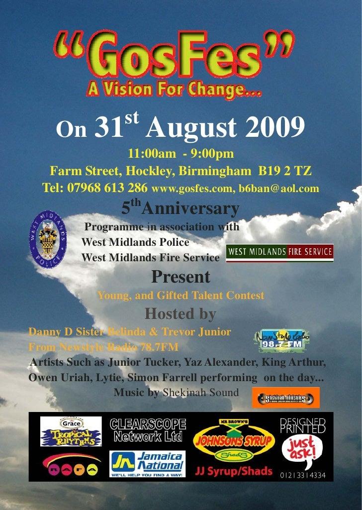 2009 Gos Fes Programme
