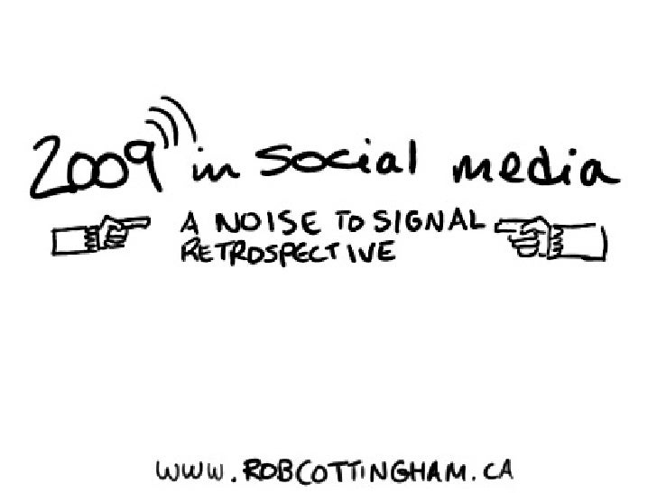 2009 In Social Media from robcottingham.ca
