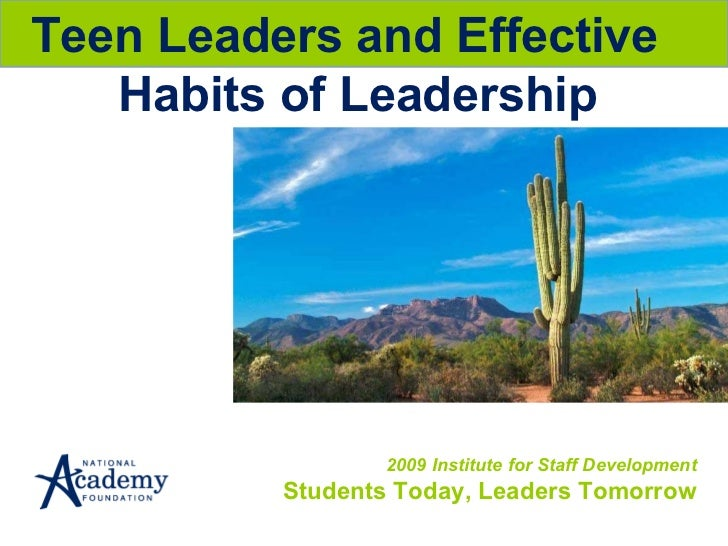 2009 instituteteenleadership