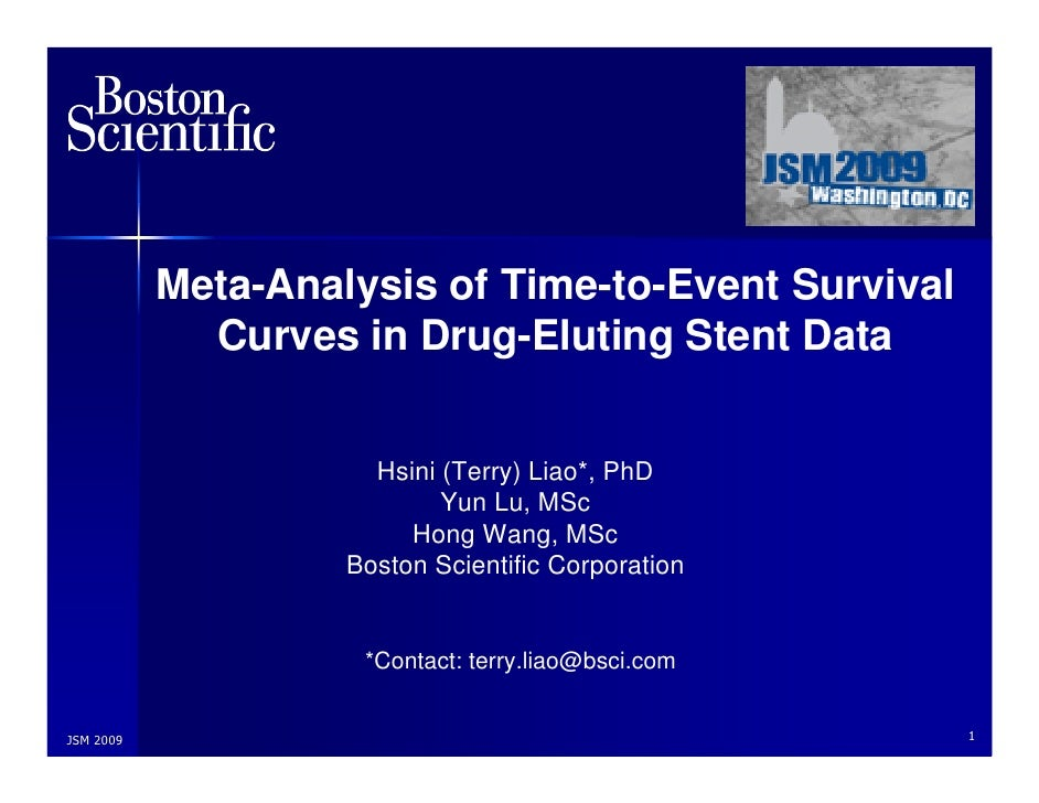 Meta-Analysis of Time-to-Event Survival              Curves in Drug-Eluting Stent Data                         Hsini (Terr...