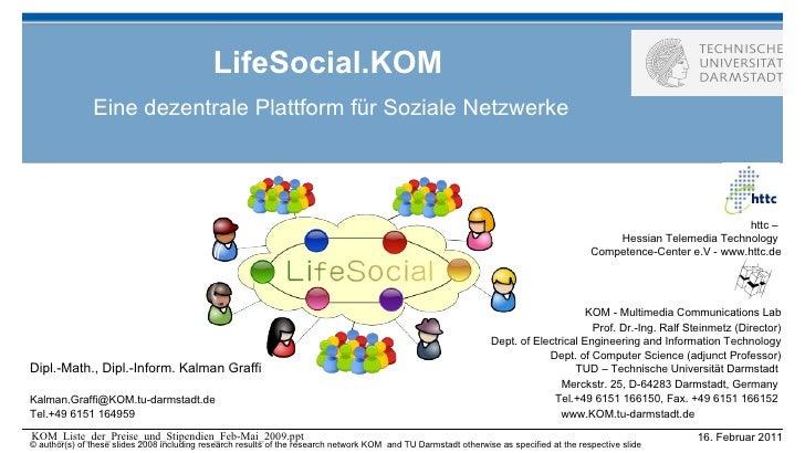 LifeSocial.KOM Eine dezentrale Plattform für Soziale Netzwerke