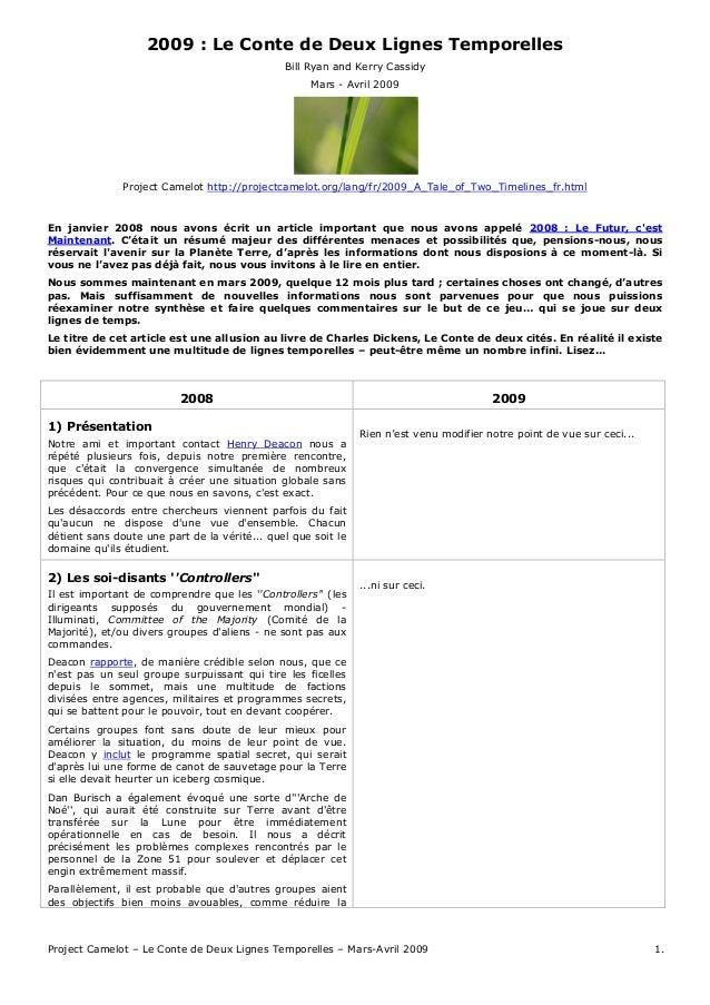 Project Camelot – Le Conte de Deux Lignes Temporelles – Mars-Avril 2009 1. 2009 : Le Conte de Deux Lignes Temporelles Bill...