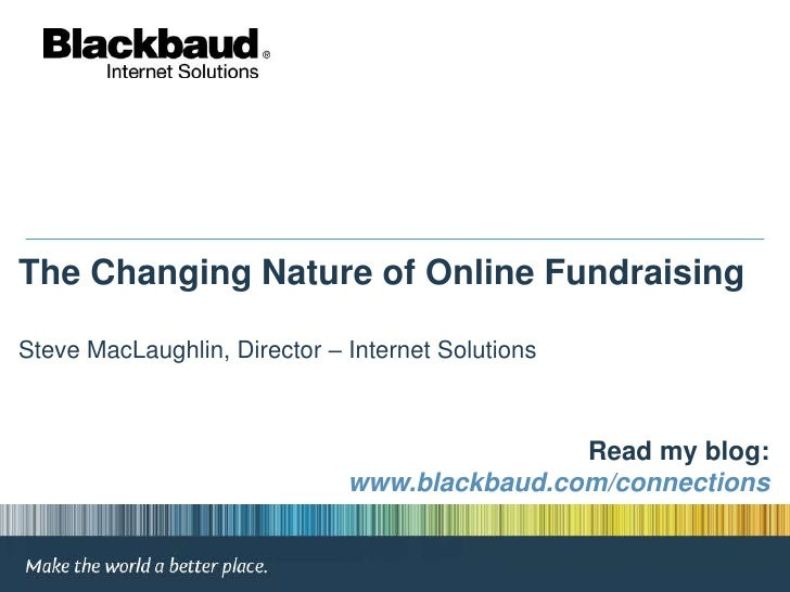 The Changing Nature of Online Fundraising