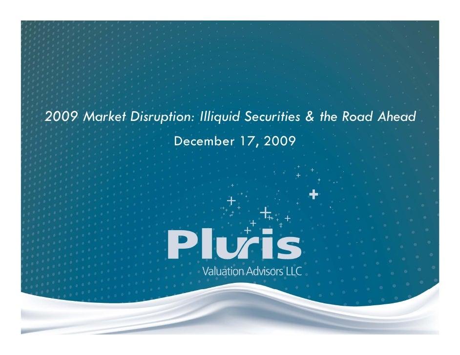 2009 Market Disruption Webinar