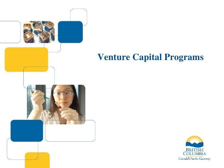 BC Venture Capital Programs