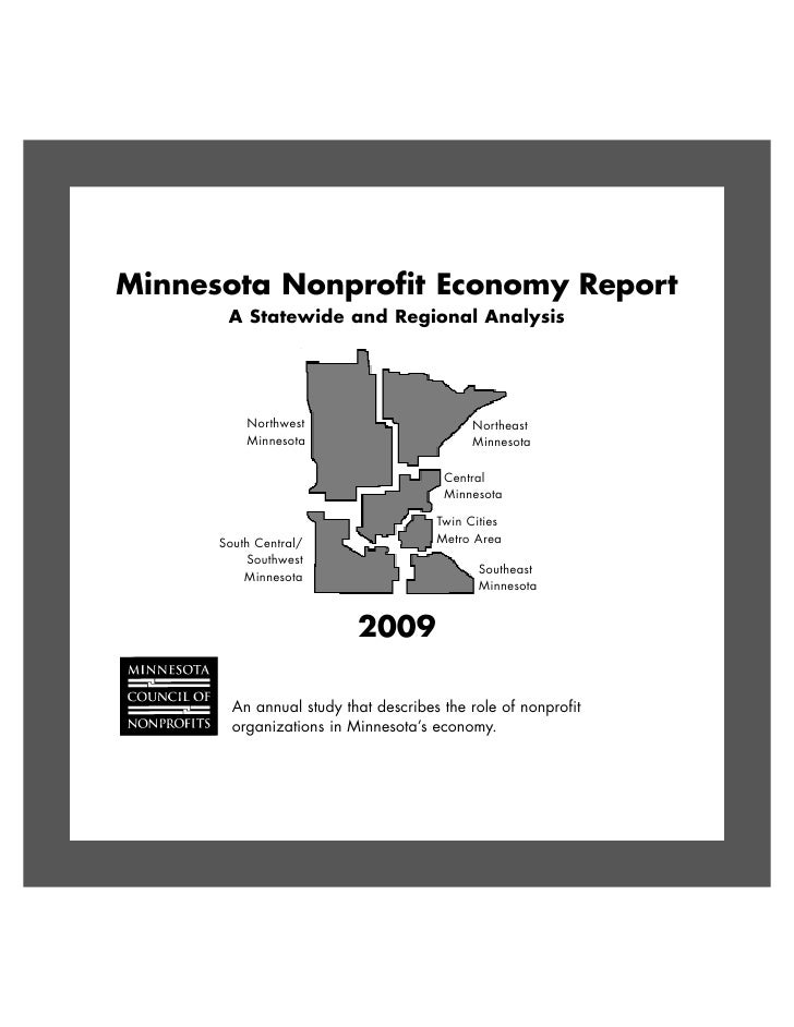 Minnesota Nonprofit Economy Report        A Statewide and Regional Analysis               Northwest                       ...