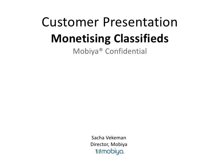 Mobiya Classifieds: Introduction