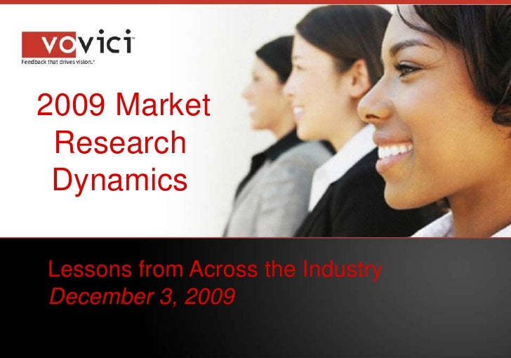 2009 Market Research Dynamics<br />Lessons from Across the Industry<br />December 3, 2009<br />