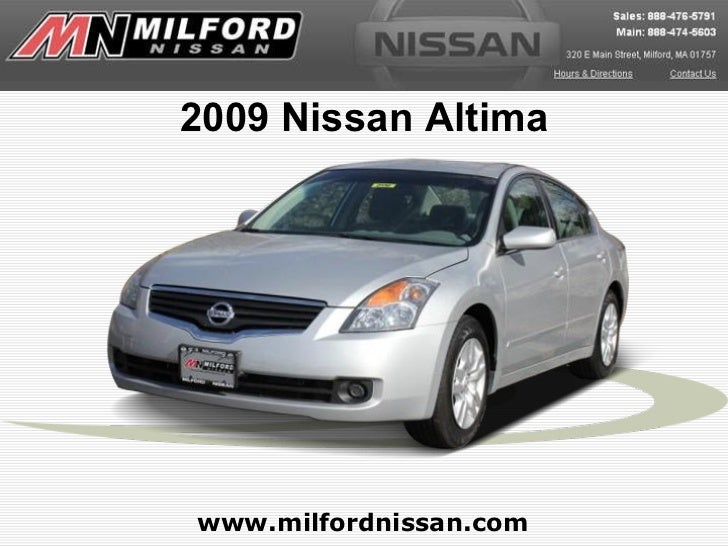 2009 Nissan Altima www.milfordnissan.com