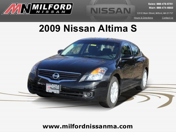 Used 2009 Nissan Altima S - Milford Nissan Worcester, MA