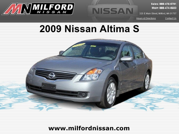 Used 2009 Nissan Altima - Milford Nissan Worcester, MA
