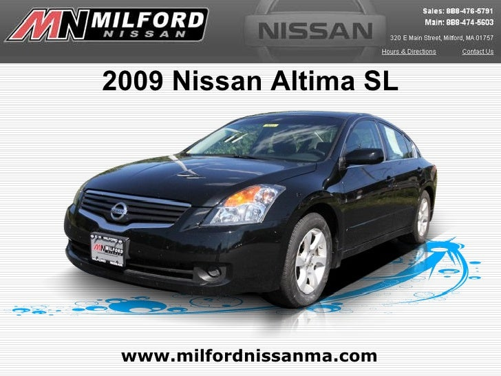 Used 2009 Nissan Altima SL - Milford Nissan Worcester, MA
