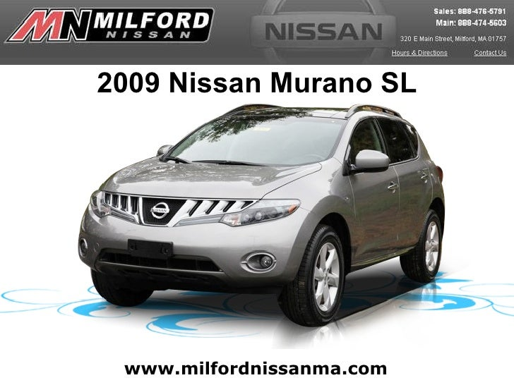 Used 2009 Nissan Murano SL - Milford Nissan Worcester, MA