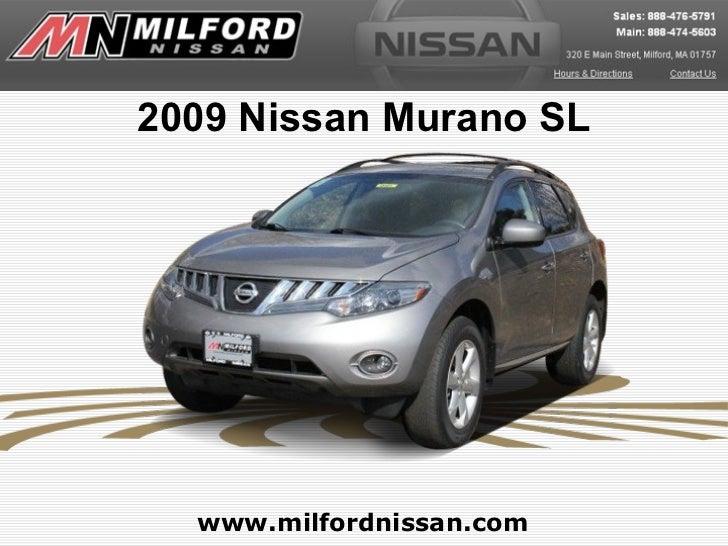 2009 Nissan Murano SL  www.milfordnissan.com