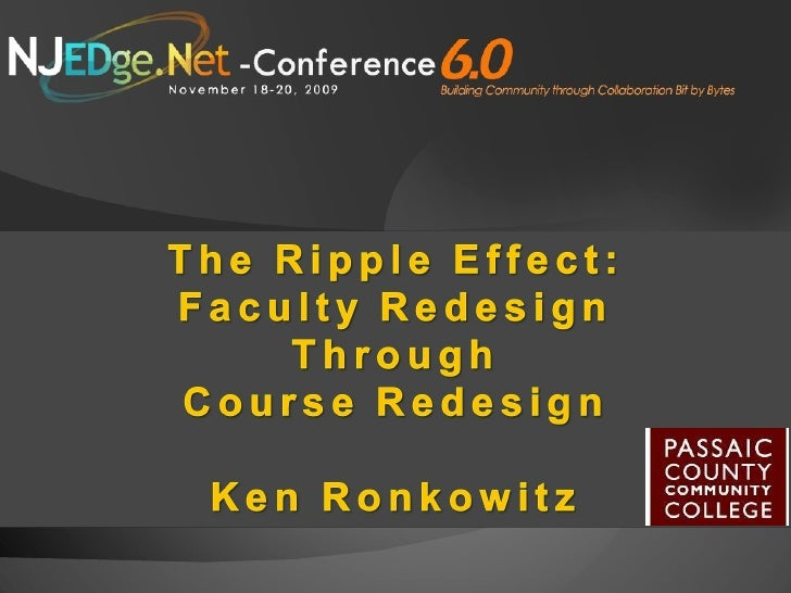 Ripple Effect: Faculty Redesign Through Course Redesign