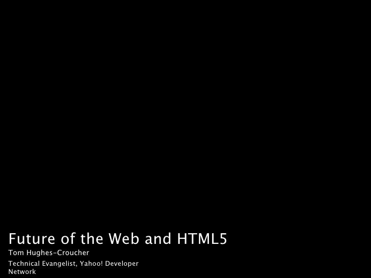 HTML5 and the Future of Apps