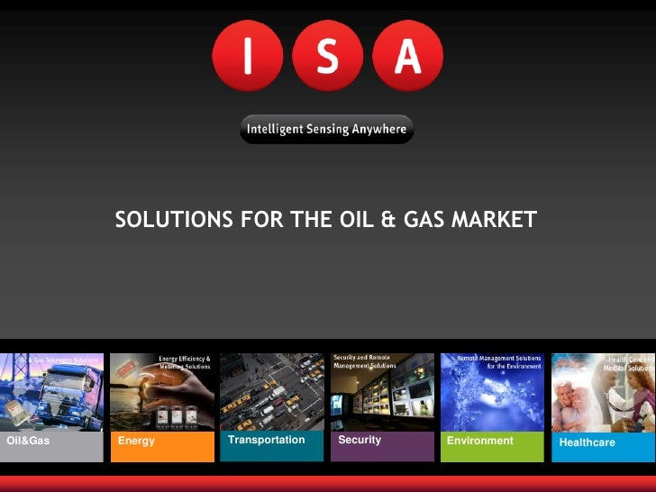 SOLUTIONS FOR THE OIL & GAS MARKET     Oil&Gas   Energy   Transportation   Security   Environment   Healthcare