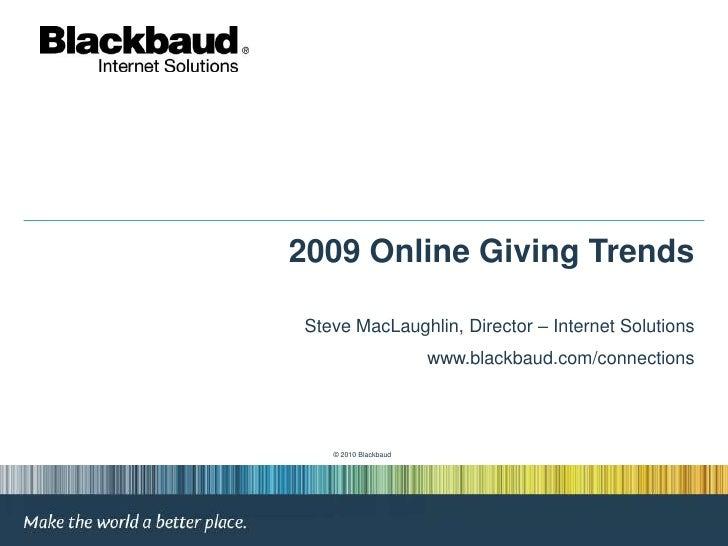 2009 Online Giving Trends