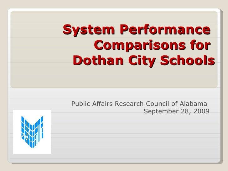 PARCA School system presentation Dothan schools
