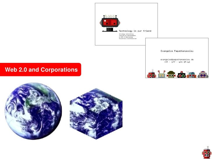 Web 2.0 and Corporations<br />