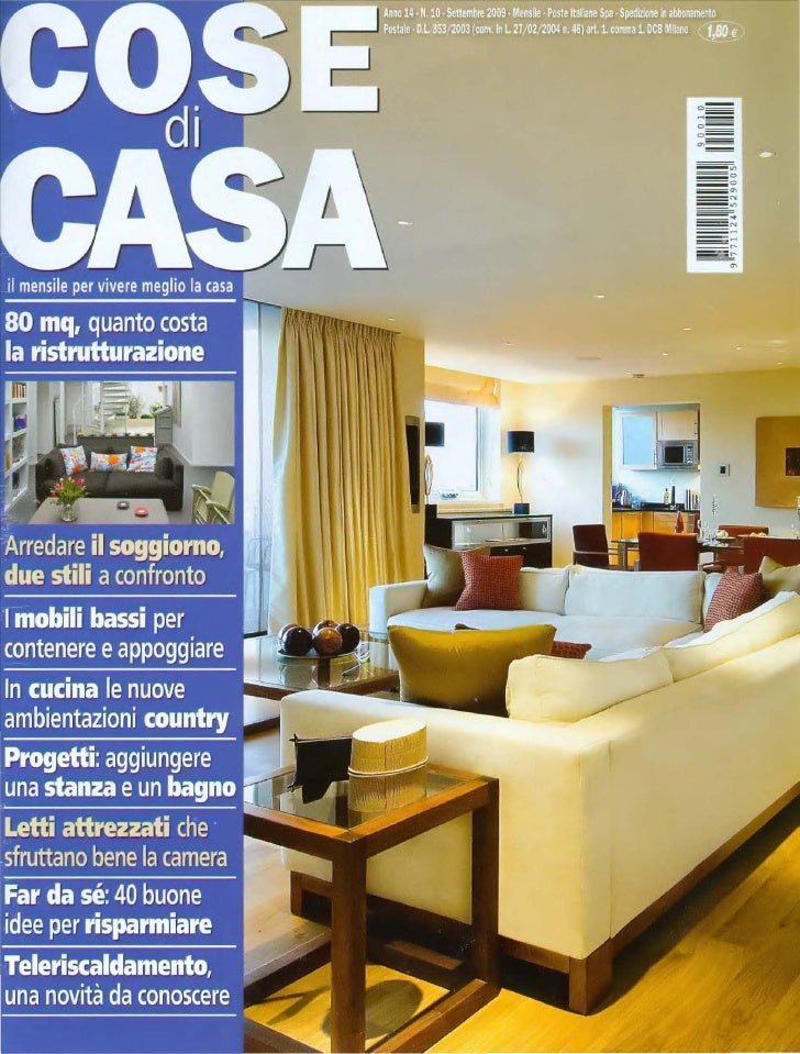 2009 ditre italia divani rassegna stampa for Rivestire un divano quanto costa