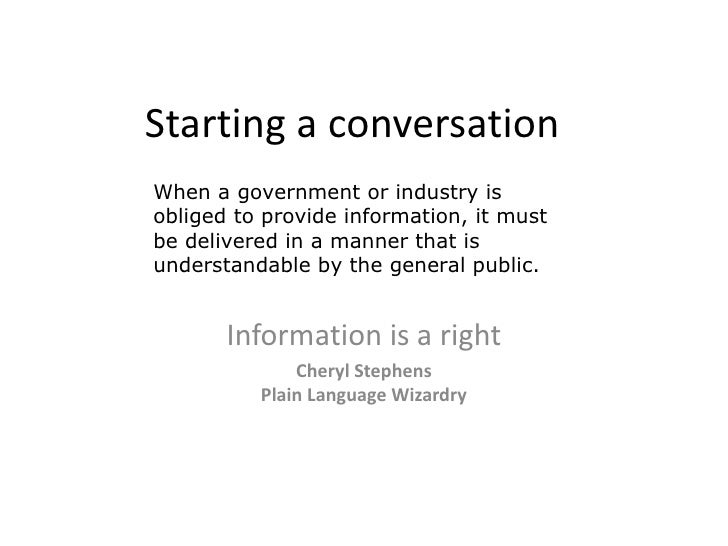Right to Understand --2009rt2info powerpoint c-stephens